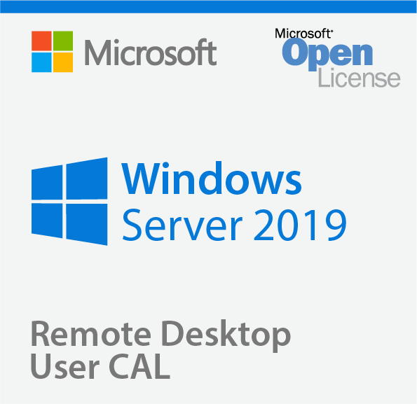 Microsoft Windows Server Remote Desktop Services 2019, 1 User CAL, RDS CAL, Client Access License