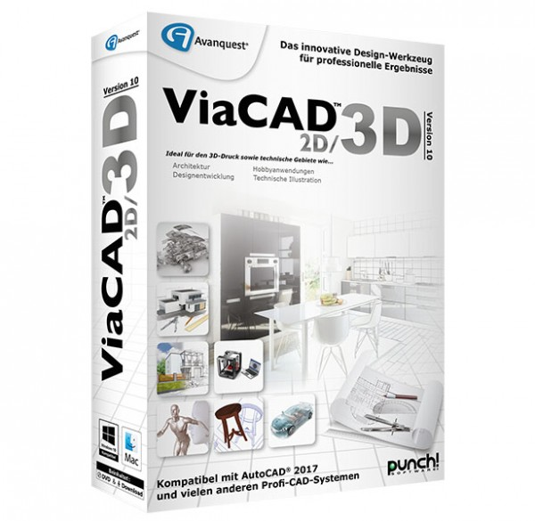 ViaCAD 2D/3D 10, WIN/MAC