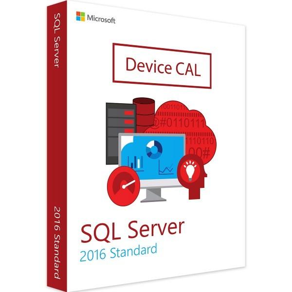 Microsoft SQL Server 2016 Standard 1 Device CAL