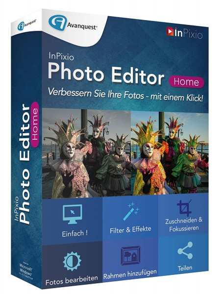 InPixio Photo Editor Home