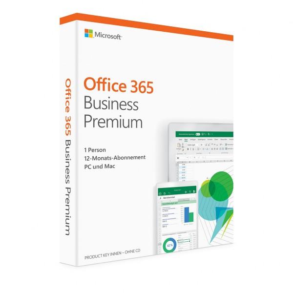 Microsoft Office 365 Business Premium, 5 Geräte, 1 Jahr