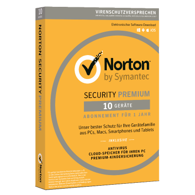 Symantec Norton Security Premium 3.0, 10 Geräte, [2020 Edition]