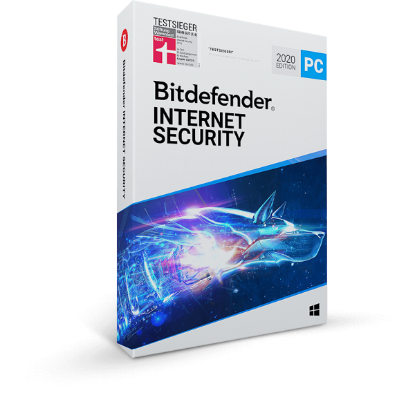 Bitdefender Internet Security 2020, 1 Jahr + 3 Monate