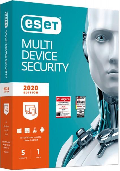 ESET Multi-Device Security 2020, 5 Geräte, 1 Jahr, Download