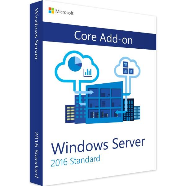 Microsoft Windows Server 2016 Standard Zusatzlizenz Core AddOn