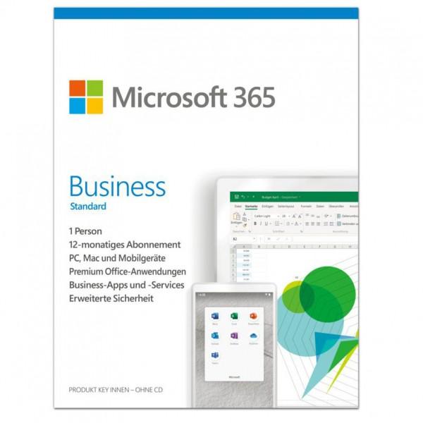 Microsoft 365 Business Standard, 5 Geräte, 1 Jahr