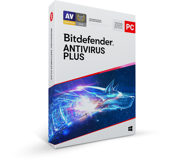 Bitdefender Antivirus Plus 2020, 3 Jahre Vollversion