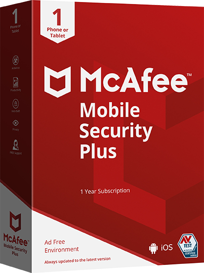 McAfee Mobile Security Plus VPN [Unlimited Device, 1 Years]