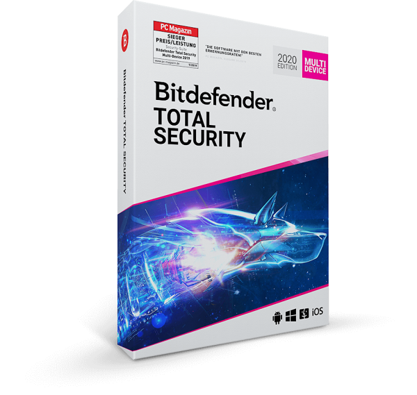 Bitdefender Total Security 2020, 1 Jahr Vollversion, Multi Device Global