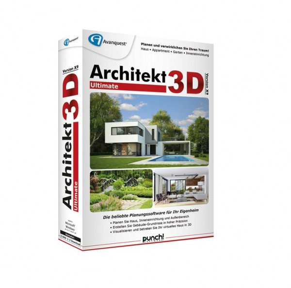 Avanquest Architekt 3D X9 Ultimate, WIN/ MacOS