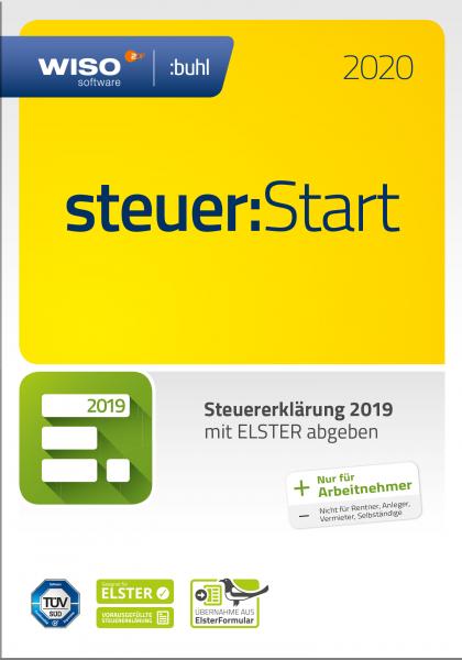 WISO Steuer:Start 2020 Steuerjahr 2019, Vollversion, [Download]