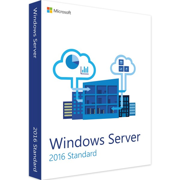 Microsoft Windows Server 2016 Standard 24 Core SB/OEM, Multilingual