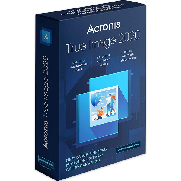 Acronis True Image 2020 Advanced, 1 PC/MAC, 1 Jahresabonnement, 250 GB Cloud