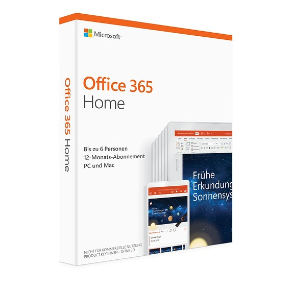 Microsoft Office 365 Home, 6 Nutzer ESD