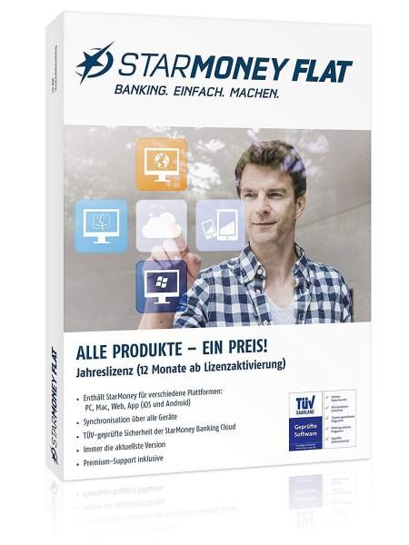 StarMoney Flat Jahreslizenz,PC/MAC/Android Deutsch inkl.Premiumsupport
